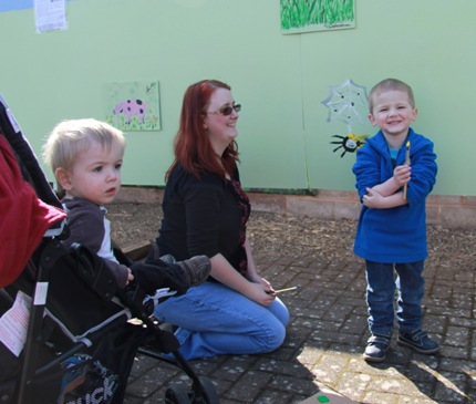 Family fun at Burcott mural.jpg