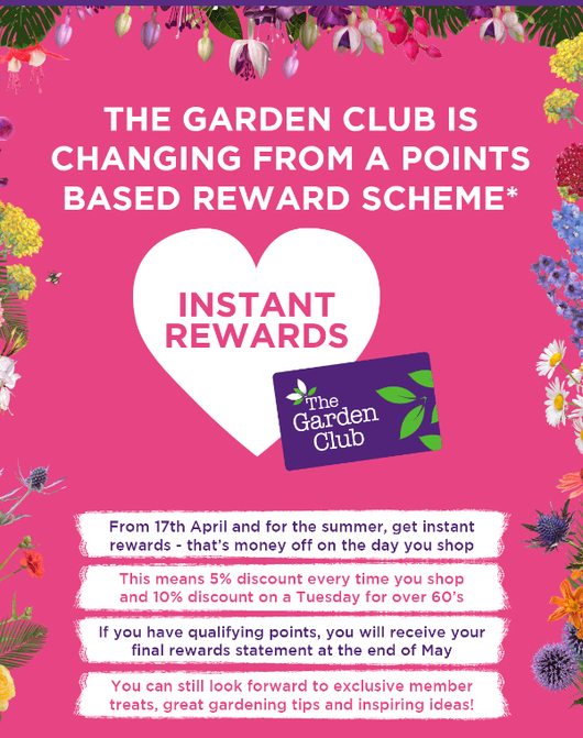 As From Wednesday 17th April 2019 The Wyevale Garden Centre Club Scheme Is Changing A Loyalty Based System To Card That Can Be