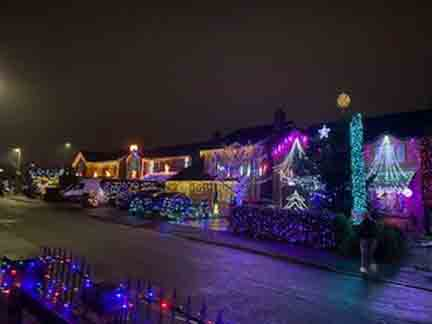 Community Display Joint 3rd Place - Bromsberrow Way Christmas Lights
